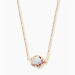 Kendra Scott Tess Gold Pendent Necklace Dichroic